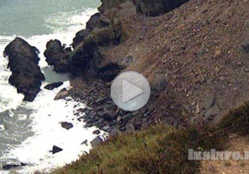 Обрушение скалы в Англии