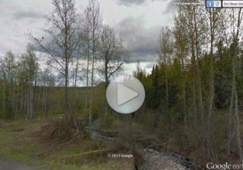 Снежный человек попал в Google Earth