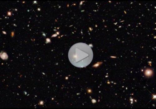 Полмиллиона галактик на одном видео