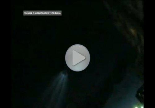 Светящиеся шары над столицей Калмыкии
