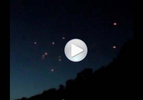 Группа НЛО была снята над Болгарией