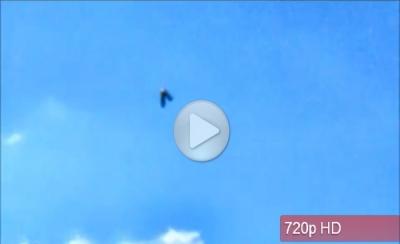 НЛО странной формы над городом Ньюкасл-андер-Лайм