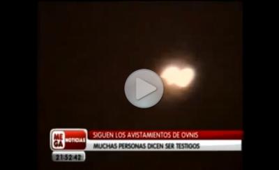 Массовое наблюдение НЛО в Южной Америке