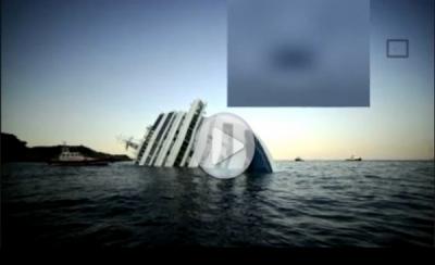 НЛО над затонувшем Costa Concordia